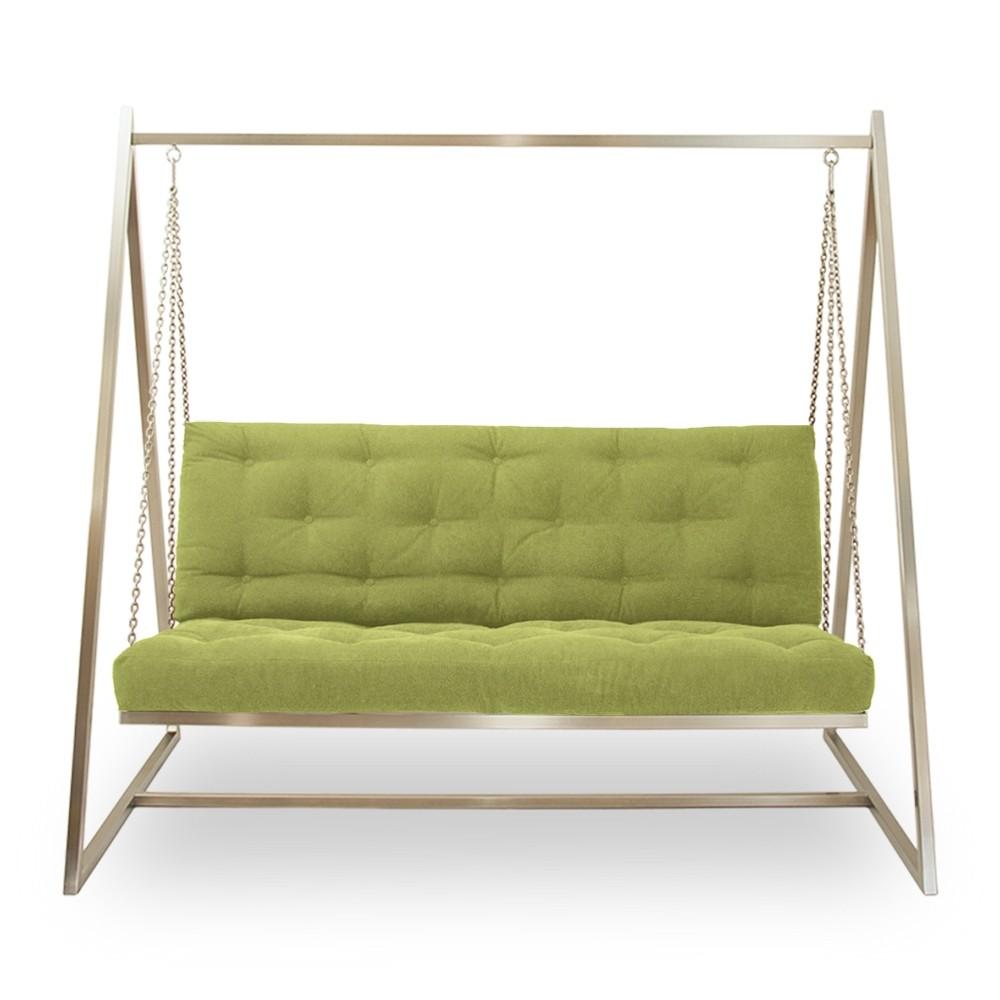 Schaukelsofa | Hängeschaukel | Hängesofa | Webstoffbezug, sanftweicher Sitzkomfort