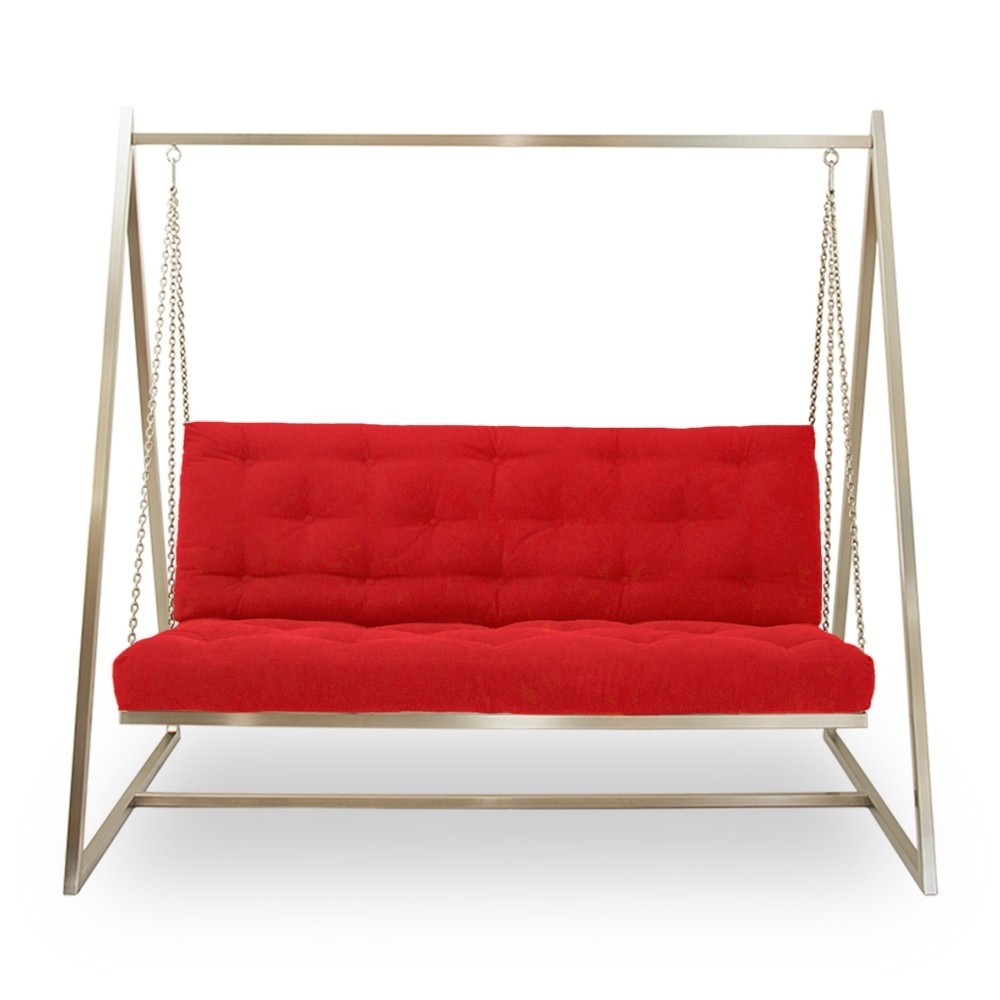 Swing Sofa | Schaukelsofa | Hängesofa | Webstoffbezug, fester Sitzkomfort