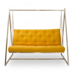 Swing Sofa | Schaukelsofa | Hängesofa | Baumwollbezug, fester Sitzkomfort