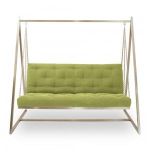 Swing Sofa | Schaukelsofa | Hängesofa | Webstoffbezug, sanftweicher Sitzkomfort