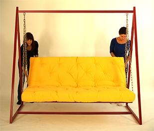 Hollywoodschaukel-Sofa mit  Liegefunktion 1