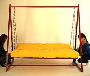 Hollywoodschaukel-Sofa mit Liegefunktion 2