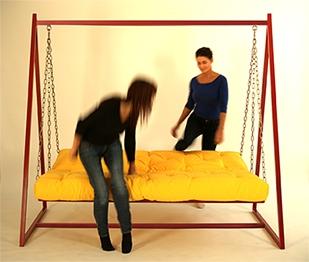 Hollywoodschaukel-Sofa mit Liegefunktion 3
