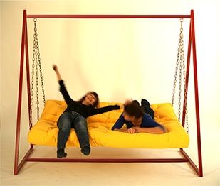 Hollywoodschaukel-Sofa mit Liegefunktion 4