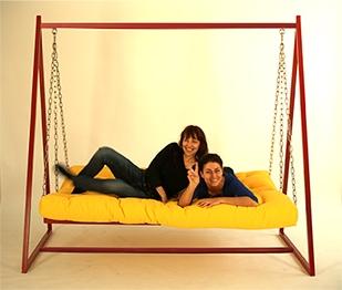 Hollywoodschaukel-Sofa mit Liegefunktion 5