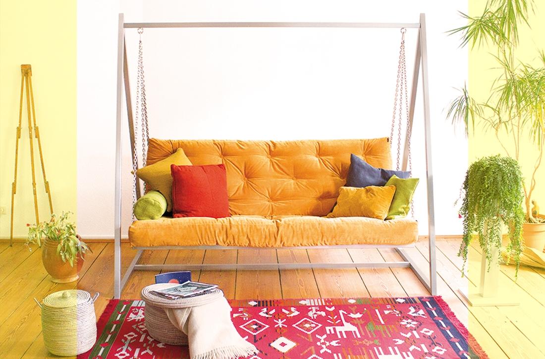 Viele Extra-Funktionen - Mehr Informationen zum Swing Sofa   Schaukelsofa   Hängesofa   Hollywoodschaukelsofa
