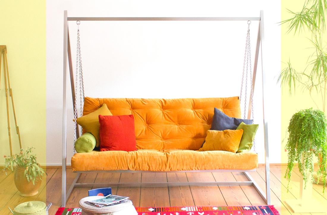 Viele Extra-Funktionen - Mehr Informationen zum Swing Sofa | Schaukelsofa | Hängesofa | Hollywoodschaukelsofa